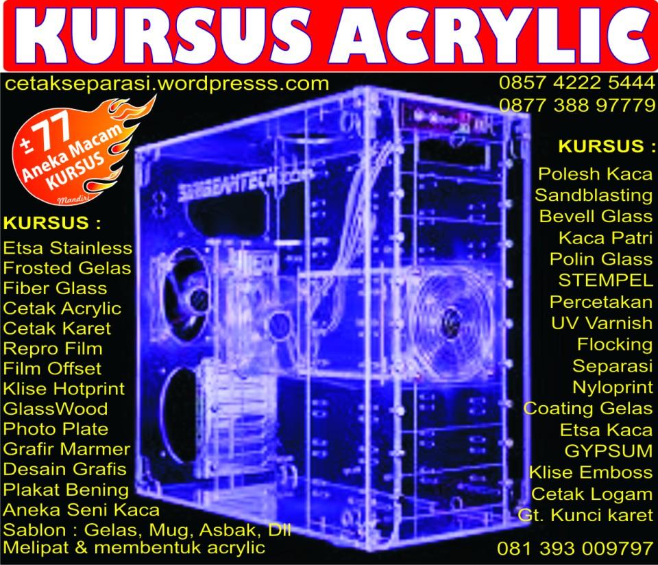 kursus acrylic   gratis mesin    alat melipat  u0026 membentuk